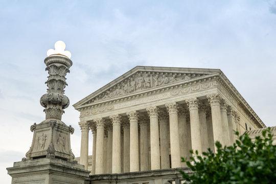 Storm clouds over the Supreme Court building, Washington D.C, USA