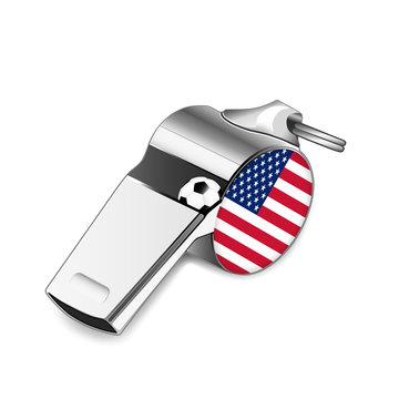 Referee whistle - U.S.A.