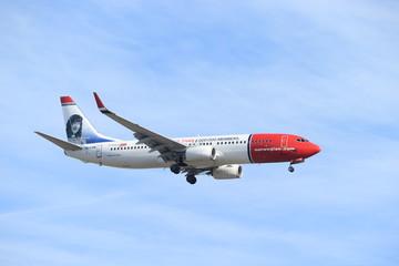 Amsterdam, the Netherlands - February, 24th 2019: EI-FVM Norwegian Air International Boeing 737