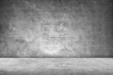 Concrete Wall Background Scene Dark Empty Room with Cement Floor with space for text or image
