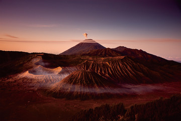 Photo sur Aluminium Marron beautiful mountain from indonesia