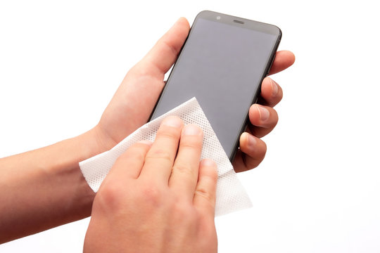Cleaning the cell phone