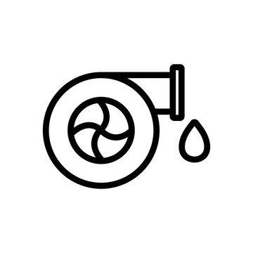 the water supply icon vector. the water supply sign. isolated contour symbol illustration