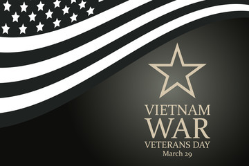 National Vietnam War Veterans Day. celebrated in March 29 th in USA. Background, poster, greeting card, banner design.