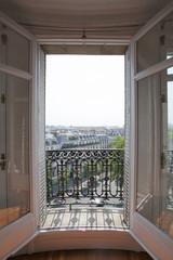 Fototapeta Vue sur Paris de la fenetre obraz