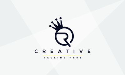 Abstract monogram letter R logo icon design. Minimalist R RR creative initial based vector template.