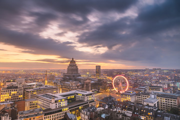 Keuken foto achterwand Brussel Brussels, Belgium Cityscape