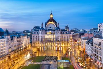 Foto auf Acrylglas Antwerpen Antwerp, Belgium Centraal Station