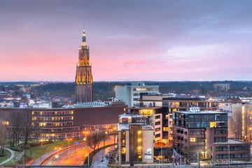 Fotobehang Lichtroze Amersfoort, Netherlands Town Skyline