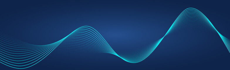 Abstract wave element for design. Wave with lines created using blend tool