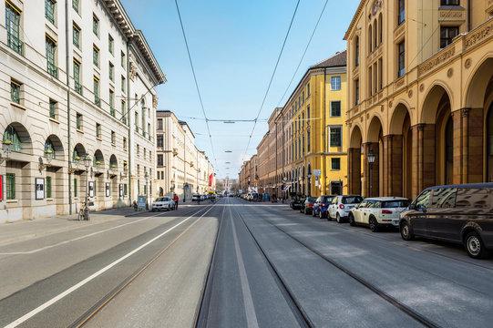Maximilianstraße in München - Deutschland