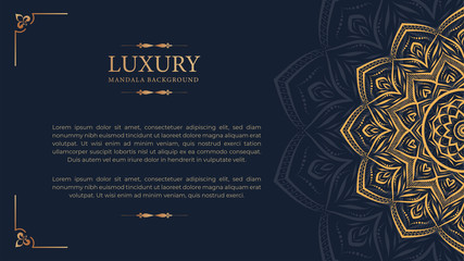 Luxury mandala with royal golden arabesque arabic islamic east style background