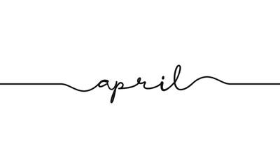 april word handwritten design vector