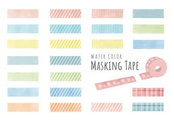 水彩風パステルカラーのマスキングテープ Fototapete