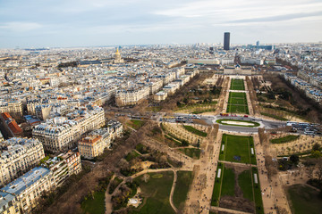 View of Paris city from Eiffel Tower