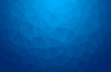Abstract vector background from triangles. Background color is dark, blue. Gradient pattern for design decoration. Conceptual background eps10