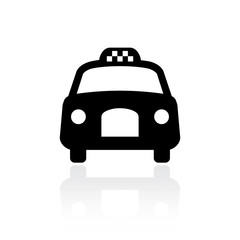 Old taxi cab vector icon