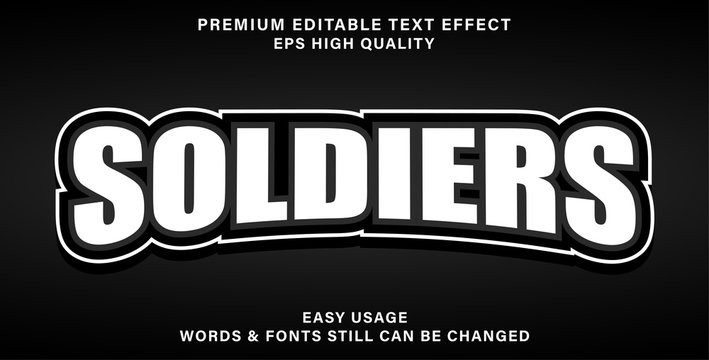 soldiers text effect