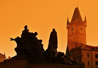 Foto op Aluminium Praag old time square prague