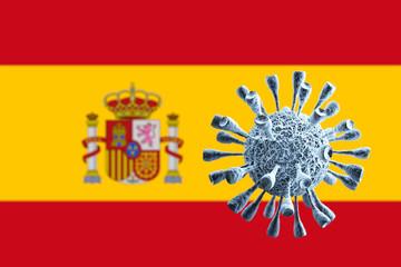 Spanien Fahne Flagge Logo 3D Logo Aufkleber Emblem Espania Spain Sticker