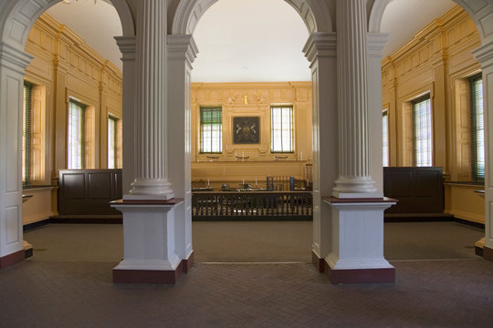 The Independence Hall courtroom, the Halls of Democracy, Philadelphia, Pennsylvania