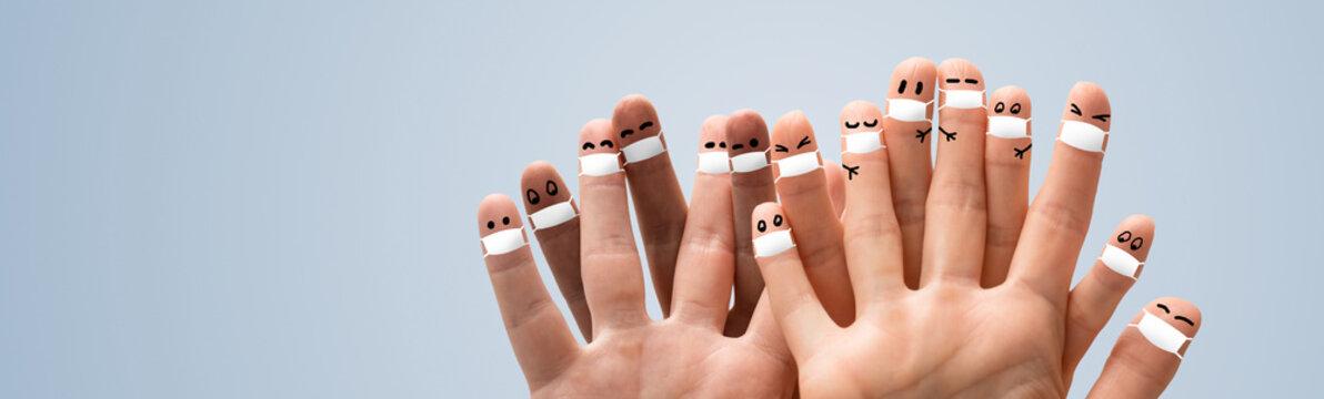 Face medical mask protection against pollution, virus, flu and coronavirus.
