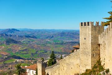 City walls of San Marino Wall mural