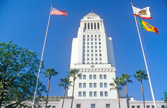 The Mayor's office at City Hall in the city of Los Angeles, California