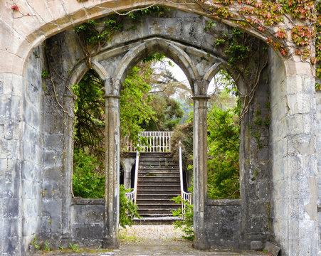old building entrance