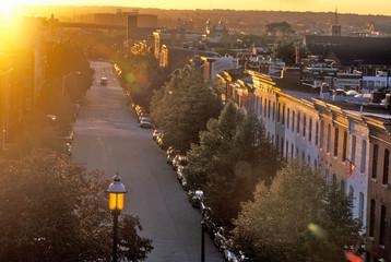 Street at Sunset, Baltimore, Maryland