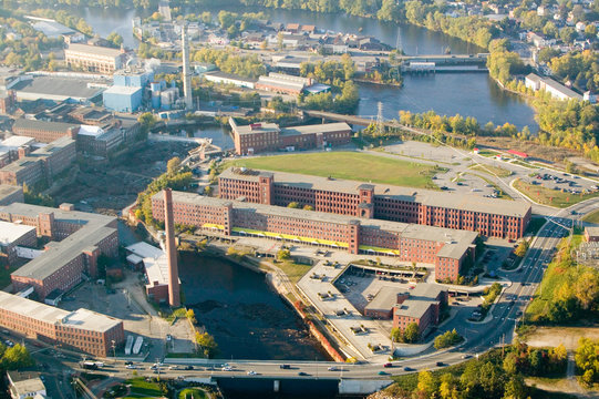 The West Point-Pepperell textile mill in Biddeford, Maine