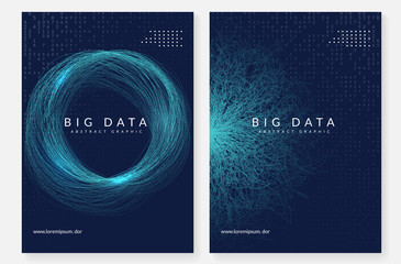 Digital technology abstract background. Artificial intelligence, deep learning and big data concept.  Wall mural