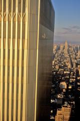 Wall Mural - Close-up of World Trade Center, Wall Street, New York City, NY
