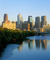 Wall Mural - Skyline of Philadelphia from Schuylkill River, PA
