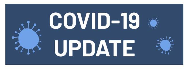 covid-19 update web Sticker Button Wall mural
