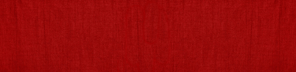 Aluminium Prints Fabric Abstract red background. Texture of natural cotton fabric. Red banner with copy space for your design.