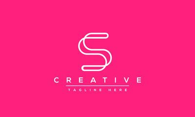 Simple Elegant Letter S Logo Design. Modern minimalist S SS creative initials based vector icon template.