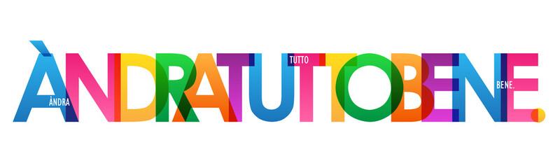 Banner tipografia vettoriale ÀNDRATUTTOBENE