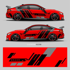 Car graphic vector. abstract lines with gray background design for vehicle vinyl wrap_20200317