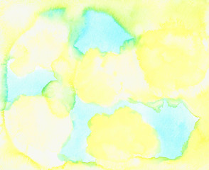 Bright Abstract, Hand Drawn Water Color Painting