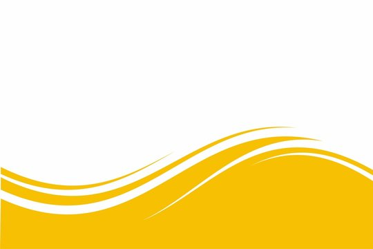 Abstract Yellow White Wave Background Design with Empty Space for Text Template Vector