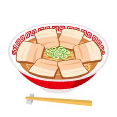 チャーシュー麺のイラスト
