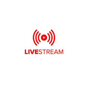 Livestream icon for streaming video gatherings online