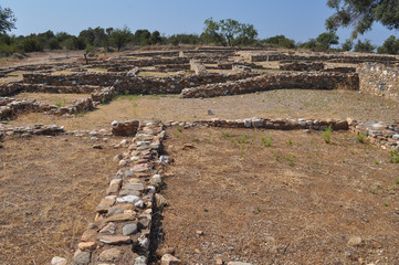 Olynthus ruins in Chalkidiki