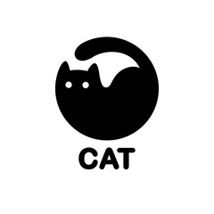 Black cat circle logo