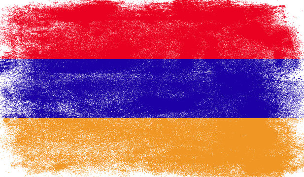 Armenia flag with grunge texture
