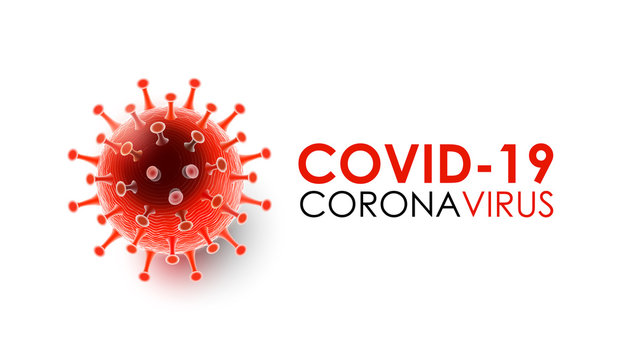 Coronavirus disease COVID-19 infection medical with typography and copy space. New official name for Coronavirus disease named COVID-19, pandemic risk background vector illustration