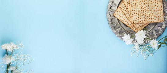 Pesah celebration concept - jewish Passover holiday