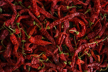 Canvas Prints Hot chili peppers Background texture with dried red hot chili peppers