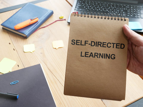 Writing note shows the text Self-directed learning